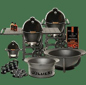 Goldens' Cast Iron Kamado grills, fire pits, Kettlebells and Dumbbells